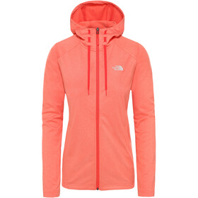 The North Face Tech Mezzaluna Kurtka z kapturem Kobiety, radiant orange white heather
